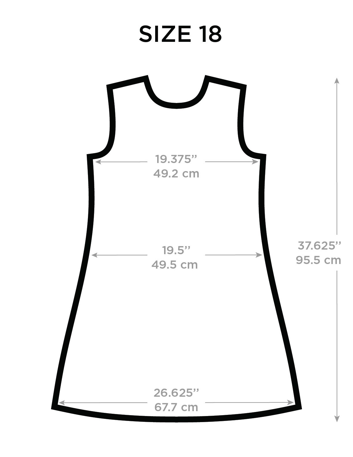 Size Chart Dresses Kids Picture This Clothing