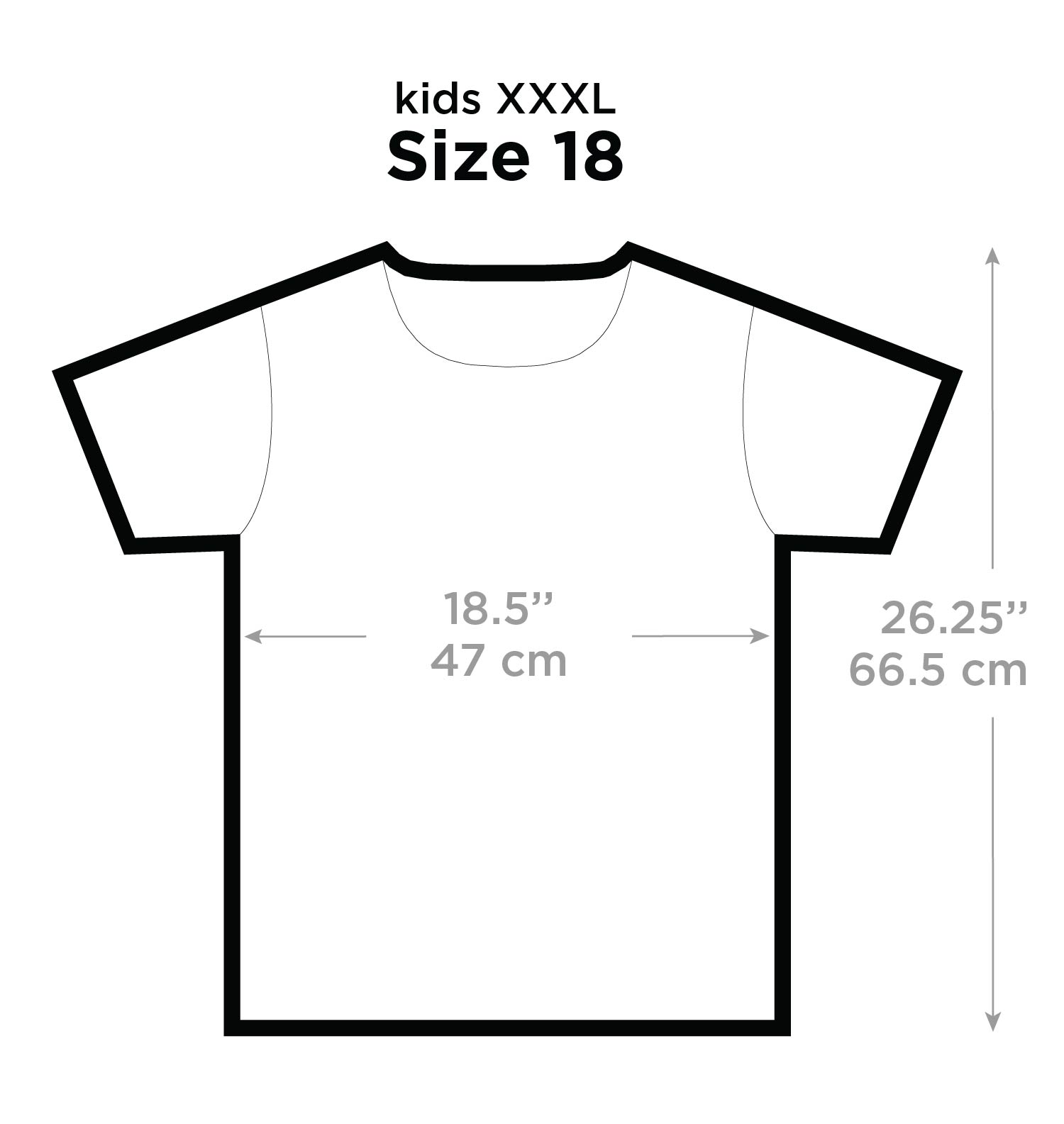 Size Chart T Shirt Kids Picture This Clothing